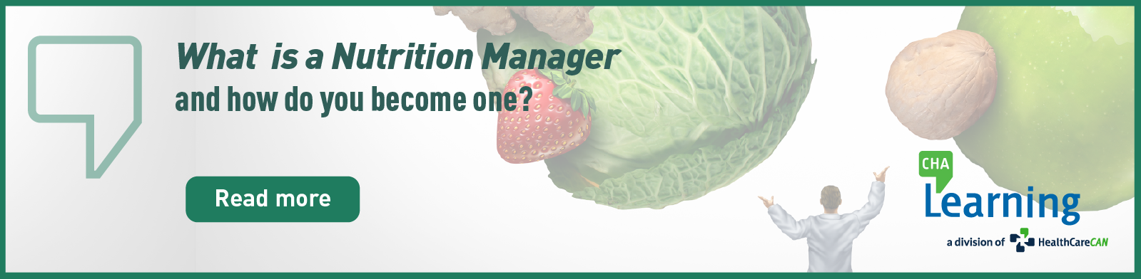What is a Nutrition Manager and how do you become one?